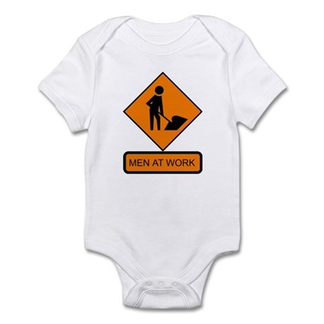 Men at Work Sign 2 - Infant Creeper