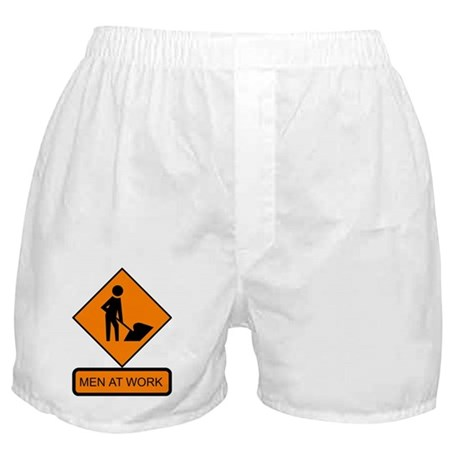 Men at Work Sign 2 - Boxer Shorts