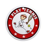 Boy I Play Tennis Ornament (Round)