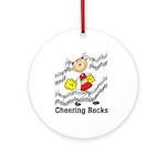 Cheering Rocks Ornament (Round)