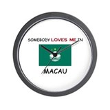 Somebody Loves Me In MACAU Wall Clock