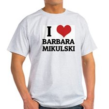 I Love Barbara Mikulski Ash Grey T-Shirt