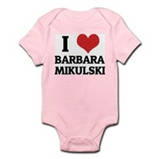 I Love Barbara Mikulski Infant Creeper