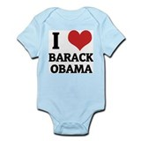 I Love Barack Obama Infant Creeper