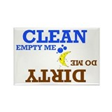Dish Washer Reminder Clean Dirty Rectangle Magnet