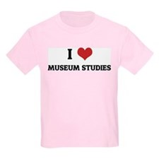 I Love Museum Studies Kids T-Shirt