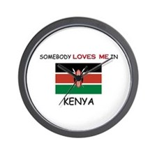 Somebody Loves Me In KENYA Wall Clock