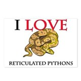 I Love Reticulated Pythons Postcards (Package of 8