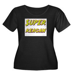 Super reagan Women's Plus Size Scoop Neck Dark T-S