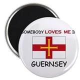 Somebody Loves Me In GUERNSEY Magnet