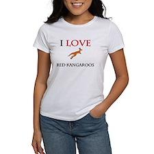 I Love Red Kangaroos Women's T-Shirt