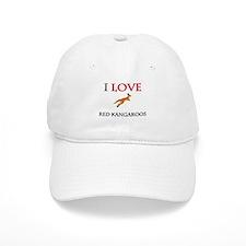 I Love Red Kangaroos Cap