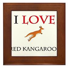 I Love Red Kangaroos Framed Tile