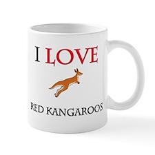 I Love Red Kangaroos Mug