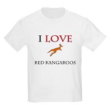 I Love Red Kangaroos Kids Light T-Shirt