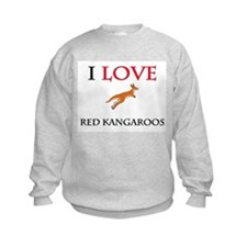 I Love Red Kangaroos Kids Sweatshirt