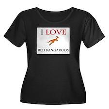 I Love Red Kangaroos Women's Plus Size Scoop Neck