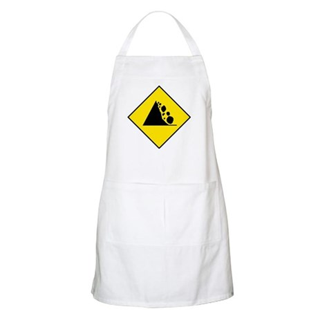 Falling Rocks Sign - BBQ Apron