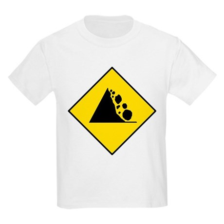Falling Rocks Sign - Kids T-Shirt