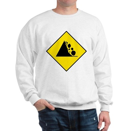 Falling Rocks Sign - Sweatshirt