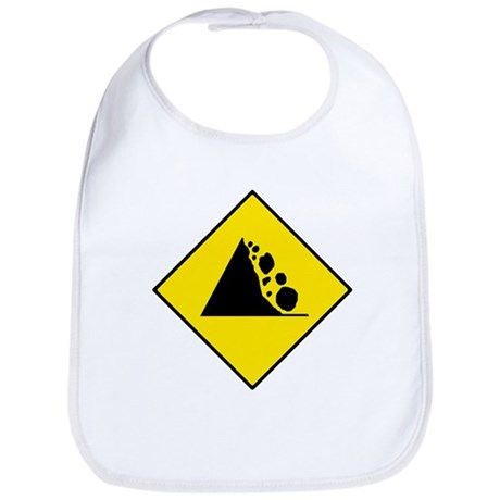 Falling Rocks Sign - Bib