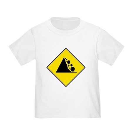 Falling Rocks Sign - Toddler T-Shirt