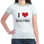 I Love Quilting Jr. Ringer T-Shirt