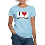 I Love Quilting Women's Pink T-Shirt