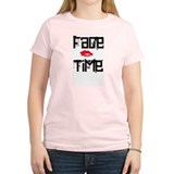 Women's NKOTB FACE TIME Tee Shirt Pink Groupie