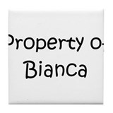 Funny Bianca Tile Coaster