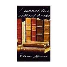 Thomas Jefferson Book Quote Rectangle Decal