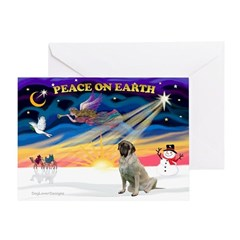 Santa's Bull Mastiff #4 Greeting Card
