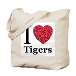 I Love Tigers Tote Bag