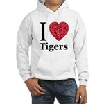 I Love Tigers Hooded Sweatshirt