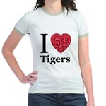 I Love Tigers Jr. Ringer T-Shirt