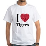I Love Tigers White T-Shirt