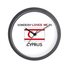 Somebody Loves Me In CYPRUS Wall Clock