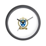 DUPUY Family Crest Wall Clock