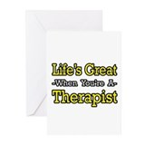 """Life's Great...Therapist"" Greeting Cards (Pk of 2"