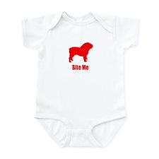Bite Me Bulldog Lt Red Infant Bodysuit