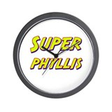 Super phyllis Wall Clock