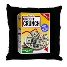 Credit Crunch Throw Pillow