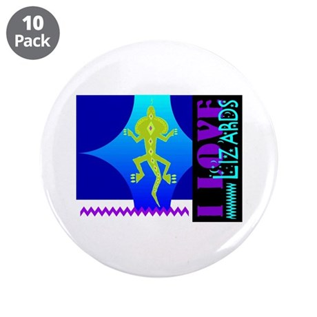 "I Love Lizards 3.5"" Button (10 pack)"
