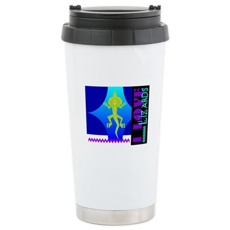 I Love Lizards Ceramic Travel Mug