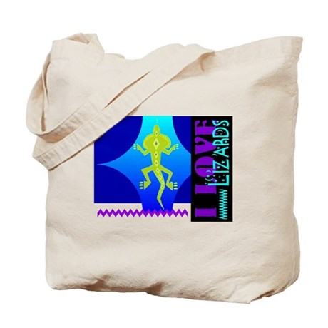 I Love Lizards Tote Bag