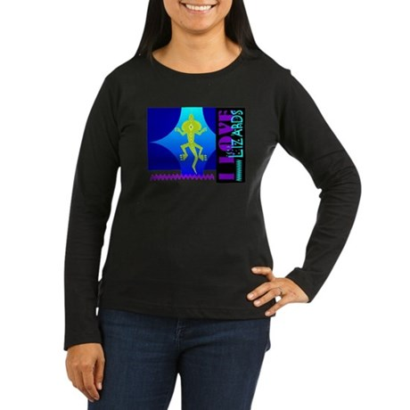 I Love Lizards Women's Long Sleeve Dark T-Shirt