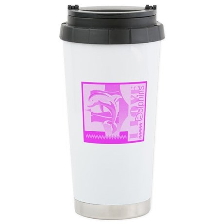 I Love Dolphins Ceramic Travel Mug