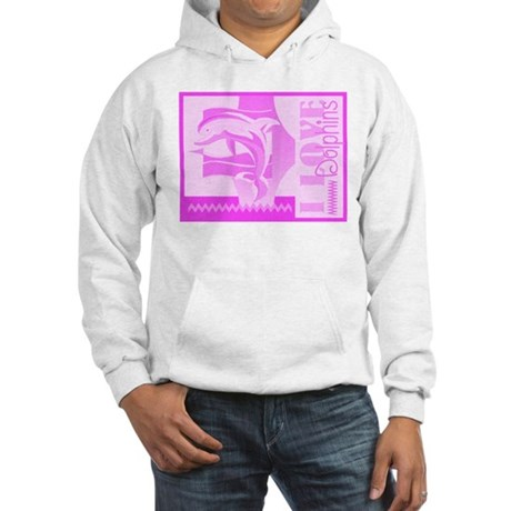 I Love Dolphins Hooded Sweatshirt