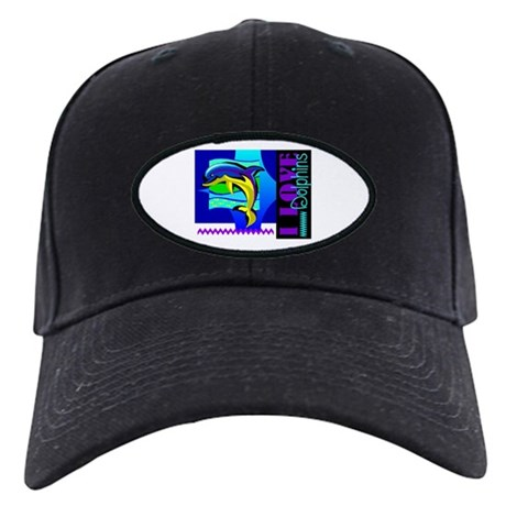 I Love Dolphins Black Cap