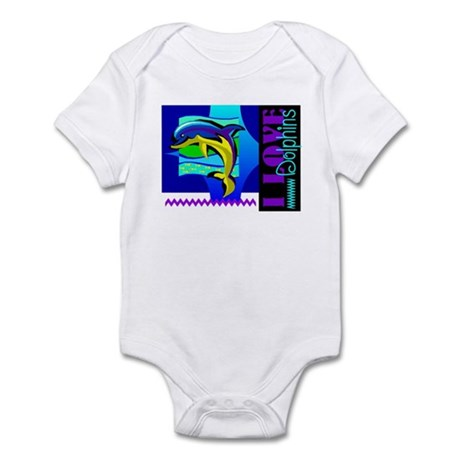 I Love Dolphins Infant Bodysuit